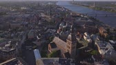 daugava : Aerial view on Dome cathedral in Old Riga City.