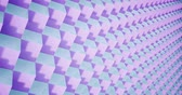 izometrický : 3D rendering Animation pattern geometric in Architecture Texture on Cube Box shape with light and shadow