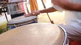 djembe : Drums Hands, Movement, Rhythm Stock Footage
