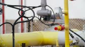 híbrido : Pipe fittings equipment in an industrial factory. Petrochemical industry Stock Footage