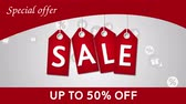 percentagem : Sale, discount fifty percent off