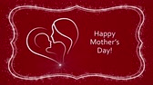 Happy Mothers Day on the red background