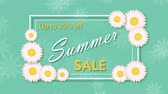 Summer sale, discount thirty percent with frame and flowers Stock Footage