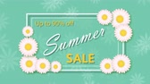 Summer sale, discount ninety percent with frame and flowers