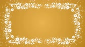 barvy : Abstract yellow background with flower frame and glowing particles Dostupné videozáznamy