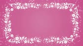 многоцветный : Abstract pink background with flower frame and glowing particles