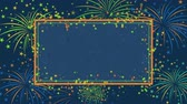celebrações : Background with fireworks and stars for congratulations on birthday