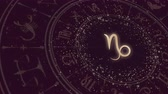 bak : Zodiac sign Capricorn and horoscope wheel