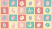 motýlek : Background Happy Easter with eggs, flowers and butterflies Dostupné videozáznamy