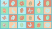 mariposas : Background Happy Easter with eggs, flowers and butterflies Archivo de Video