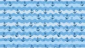 horgony : Sea background pattern with anchors