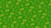 kersen : Summer green background with fruit Stockvideo