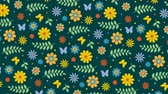 узор : Summer colored background with flowers