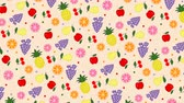 gruszka : Summer colored background with fruit
