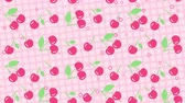 frutas : Light pink background with cherry Vídeos