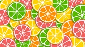 citróny : Colorful background with rotating lemons