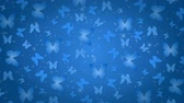 parçacıklar : Butterflies, blue background with glowing particles