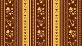 妻 : Gold hearts on the brown background 動画素材
