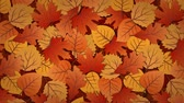 抽象的な : Autumn leaves rotating colorful background