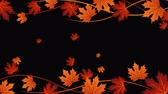 cair : Autumn frame with leaves and alpha channel