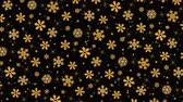 karácsony : Gold snowflakes on the black background