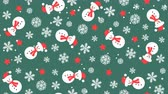 kardan adam : Christmas background pattern with snowmen and snowflakes