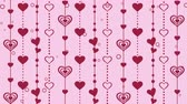 mariage : Hearts pattern background, Valentines Day Vidéos Libres De Droits