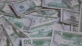 earn : Footage United states of America dollar banknotes. Stock Footage