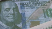 franklin : Footage United states of America dollar banknotes. Stock Footage