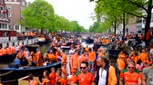 holandês : Kingsday in Amsterdam on the 26th of april 2014 in the Netherlands
