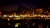 Amsterdam at night in the Netherlands