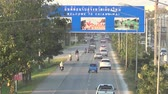 major city : Traffic on a major highway no.11 to chiangmai city, 2013 in chiangmai, Thailand. Stock Footage