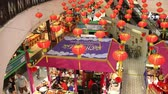 wnętrze : CHIANG MAI, THAILAND -FEBRUARY 12 2018: China NewYear Food  Area. Inside of Central Festival Chiangmai. 3 Km. from Chiangmai City, Thailand.