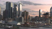 chrysler building : Seaport and New York City,twilight time