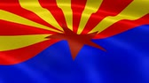 tucson : Arizonan flag in the wind. Part of a series.