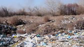 basureros : big pile of rubbish in the middle of natural nature