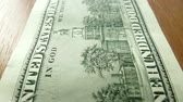 united states : The video shows banknotes dollars clous up Stock Footage