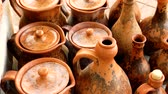 crock : SEMENOV, RUSSIA - JUNE 14, 2014: Video shows clay pots handmade