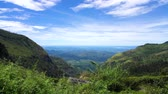 Panoramic of the mountains of Sri Lanka from the tea plantation Lipton seat point.