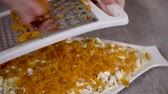 majonéz : 4k, close up grated boiled carrots, Preparation of a dish herring under a fur coat. Russian national dish.