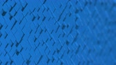 move left : Wall of blue cubes moving in a random pattern. 3D animated motion background loop. Stock Footage