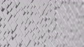течь : Wall of white cubes moving in a random pattern. 3D animated motion background loop. Стоковые видеозаписи
