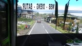 atrair : Dieng Plateau, Indonesia, January 14, 2017 - journey to Dieng Plateu (on the bus) Stock Footage