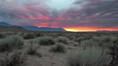 eastern sierra : A beautiful sunset over the Sierra Nevada Mountains in California