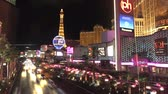 Wide angle time lapse shot of the traffic on Las Vegas Blvd and the the strip at night