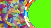 origami background : abstract background of triangles of different colors with green screen insert
