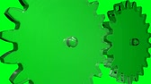 spojit : Big gears rotation. Seamless loop. HD Resolution. Chroma key green screen.