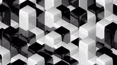 desvanecer : Abstract geometric back and white cubes, optical Illusion, modern computer generated 3D rendering backdrop Stock Footage