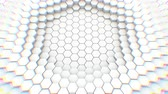 desvanecer : Abstract geometric hexagons, optical Illusion, computer generated 3D rendering backdrop.