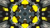 irradiar : Abstract symmetry bright kaleidoscope, 3d rendering backdrop, computer generating Vídeos